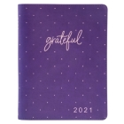 Large Daily Planner for Women 2021 Purple/Grateful Cover Image
