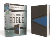 Niv, Boys Bible, Leathersoft, Gray/Blue, Comfort Print Cover Image