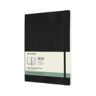 Moleskine 2022  Weekly Planner, 12M, Extra Large, Black, Soft Cover (7.5 x 10) Cover Image