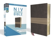 NIV, Thinline Bible, Imitation Leather, Brown, Red Letter Edition Cover Image