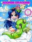 Adorbs Dragons Sherri Baldy My-Besties Coloring Book Cover Image