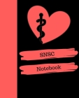 SNSC Notebook: School Nurse Services Credential Notebook Gift - 120 Pages Ruled With Personalized Cover Cover Image