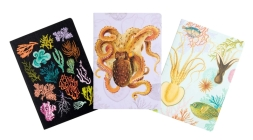 Art of Nature: Under the Sea Sewn Notebook Collection (Set of 3): (Cute Stationery Gift, Gift for Girls, Notebooks) Cover Image