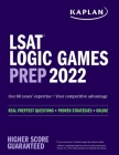 Logic Games Prep 2022: Real Preptest Questions + Proven Strategies + Online (Kaplan Test Prep) Cover Image