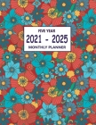2021-2025 Five Year Monthly Planner: Weekly & Monthly Planner for Women - Floral Mint Cover Cover Image