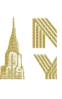 ICONIC Gold Chrysler Building sir Michael Drawing Journal Cover Image