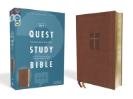 Niv, Quest Study Bible, Leathersoft, Brown, Comfort Print: The Only Q and A Study Bible Cover Image