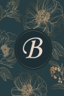 B: Initial Monogram Notebook, Monogram Journal, Initial Notepad, 100 Pages Cover Image