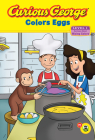Curious George Colors Eggs Early Reader Cover Image
