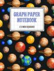 Graph Paper Notebook 1/2 Inch Squares: Space Themed 0.50 Square Quad Ruled, 120 Pages, 8.5 x 11 Non-perforated Graphing Notebook Cover Image