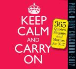 Keep Calm and Carry On Page-A-Day Calendar 2017 Cover Image