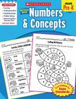 Scholastic Success with Numbers & Concepts Workbook Cover Image