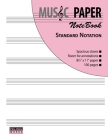MUSIC PAPER NoteBook - Standard Notation Cover Image