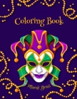 Mardi Gras Coloring Book: Fun mardi gras coloring book Cover Image