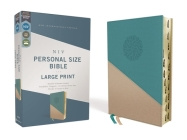 Niv, Personal Size Bible, Large Print, Leathersoft, Teal/Gold, Red Letter, Thumb Indexed, Comfort Print Cover Image