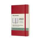 Moleskine 2022  Weekly Planner, 12M, Pocket, Scarlet Red, Soft Cover (3.5 x 5.5) Cover Image