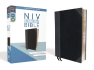 NIV, Thinline Bible, Imitation Leather, Black/Gray, Red Letter Edition Cover Image