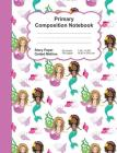 Primary Composition Notebook: Mermaids Design Pattern - Story Space Dotted Mid Line:: Softcover Book - Home School, boy Girl Student Teacher, Classr Cover Image
