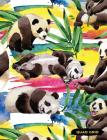 Quad Grid: Panda Composition Notebook Graph Ruled Paper, 4x4 Squared for Math & Science Graphing Cover Image