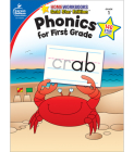 Phonics for First Grade, Grade 1: Gold Star Edition (Home Workbooks: Gold Star Edition) Cover Image