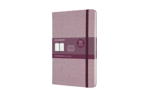 Moleskine Blend Limited Collection Notebook, Large, Ruled, Herringbone Purple (5 x 8.25) Cover Image