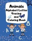 Alphabet Letter Tracing and Coloring Book Cover Image