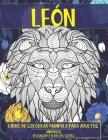 Libro de colorear Mandala para adultos - Relajación y alivio del estrés - Animales - León Cover Image