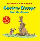 Curious George Feeds the Animals (8x8 with stickers) Cover Image