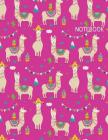 Notebook: Cute Llama and Cactus (8.5 x 11 Inches) 110 Pages Cover Image