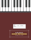 Music Notebook - AmyTmy Notebook -120 pages - 8.5 x 11 inch - Matte Cover Cover Image