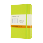 Moleskine Classic Notebook, Pocket, Ruled, Lemon Green, Hard Cover (3.5 X 5.5) Cover Image