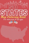 50 States map coloring activity book for everyone of all ages: All American states map mandala coloring book for days and weeks engaging entertainment Cover Image