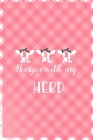 Hangin' With My Herd: Notebook Journal Composition Blank Lined Diary Notepad 120 Pages Paperback Pink Grid Cow Cover Image