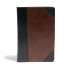 CSB Large Print Personal Size Reference Bible, Black/Brown LeatherTouch Cover Image