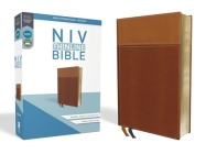 NIV, Thinline Bible, Imitation Leather, Tan, Red Letter Edition Cover Image