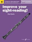 Improve Your Sight-Reading! Clarinet, Levels 4-5 (Intermediate): A Progressive Sight-Reading Method, Book & Online Audio Cover Image