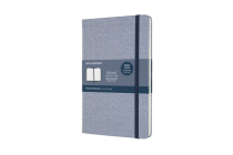 Moleskine Blend Limited Collection Notebook, Large, Ruled, Herringbone Blue (5 X 8.25) Cover Image