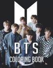 BTS Coloring Book: Funny Bangtan Boys Coloring Books, Stress Relief with BTS Jin, RM, JHope, Suga, Jimin, V, Jungkook Coloring Books for Cover Image