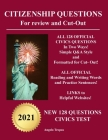 Citizenship Questions For Review And Cut-Out: New 128 Questions Citizenship Test Cover Image