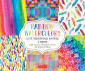 Rainbow Watercolors Gift Wrapping Papers: 6 Sheets of High-Quality 24 X 18 Inch Wrapping Paper Cover Image