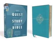 Niv, Quest Study Bible, Leathersoft, Blue, Comfort Print: The Only Q and A Study Bible Cover Image