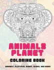 Animals Planet - Coloring Book - Wombat, Platypus, Bunny, Shark, and more Cover Image