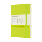 Moleskine Classic  Notebook, Pocket, Plain, Lemon Green, Hard Cover (3.5 x 5.5) Cover Image