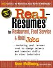 Real-Resumes for Restaurant, Food Service & Hotel Jobs Cover Image