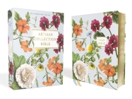Niv, Artisan Collection Bible, Leathersoft, Blue Floral, Red Letter Edition, Comfort Print Cover Image