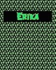 120 Page Handwriting Practice Book with Green Alien Cover Erika: Primary Grades Handwriting Book Cover Image