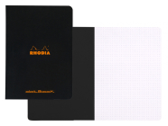 Rhodia Classic Dot Grid 6 X 8 1/4 A5 Black Cover Notebook Cover Image