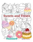 Large print adult coloring book of SWEETS and TREATS Cover Image