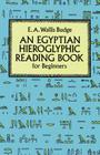 Egyptian Hieroglyphic Reading Book for Beginners Cover Image