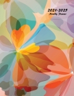 2021-2025 Monthly Planner: Large Five Year Planner with Beautiful Coloring Pages Cover Image
